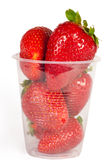 Juicy ripe berry strawberry in glass Royalty Free Stock Photography