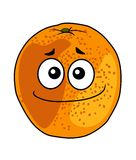 Juicy ripe cartoon orange with a cheeky grin Stock Photo