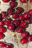 Juicy and ripe cherries. Royalty Free Stock Images