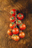 Juicy ripe cherry tomatoes on a branch Stock Images