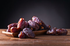 Juicy ripe dates Stock Images