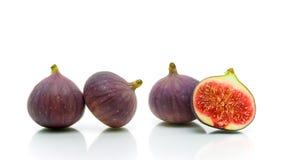 Juicy ripe figs closeup on white background Stock Photo