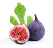 Juicy, ripe  figs Stock Photos