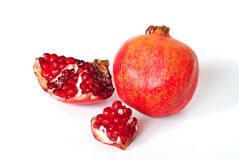 Juicy ripe fruit. Is isolated on a white background Stock Photos