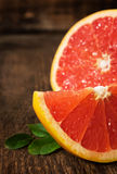 Juicy ripe grapefruit Stock Photos