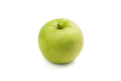 Juicy ripe green apple Stock Photos