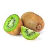 Juicy ripe kiwi fruit isolated on white background. Juicy ripe green kiwi fruit Stock Photo
