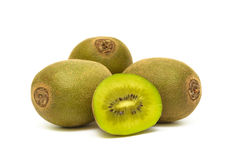 Juicy, ripe kiwi fruit on white background Royalty Free Stock Images