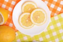Juicy ripe lemons closeup Royalty Free Stock Photo