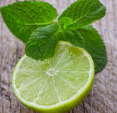 Juicy ripe limes Stock Photo