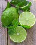 Juicy ripe limes Stock Photography