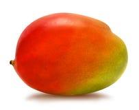 Juicy ripe mango isolated. Juicy fresh mango isolated on a white background. Ripe tropical fruit with antioxidant effect Royalty Free Stock Photos