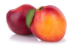 Juicy ripe nectarines Stock Image
