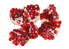 Juicy ripe open pomegranate piece Stock Photography