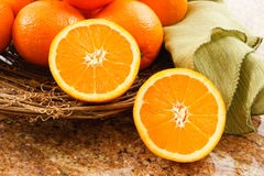 Juicy Ripe Oranges Stock Photo