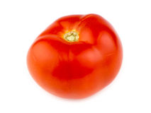 Juicy ripe organic Australian red tomato isolated on white Royalty Free Stock Images