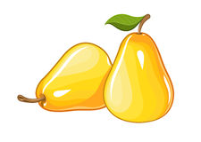 Juicy ripe pear Stock Photos
