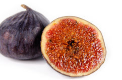 Juicy ripe purple fig Royalty Free Stock Photo