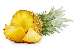 Juicy ripe sliced pineapple Stock Photography
