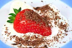 Juicy ripe strawberry Royalty Free Stock Photo