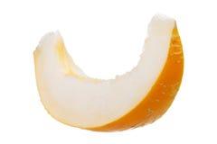 Juicy ripe yellow melon on a white background Stock Photos