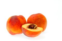 Juicy ripen peaches Stock Photos
