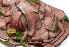 Juicy roast beef Stock Photo
