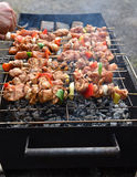 Juicy roasted kebabs Royalty Free Stock Photography