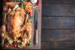 Juicy roasted turkey Stock Images