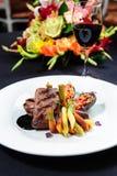 Juicy roe steak Royalty Free Stock Photo