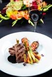 Juicy roe steak Royalty Free Stock Photography