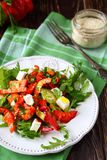Juicy salad with bell peppers and cheese Stock Photography