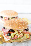 Juicy sandwich Stock Image