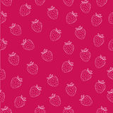 Juicy seamless pattern with white strawberries on fuchsia background. Can be used in your project or printing Stock Photos