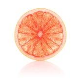 Juicy segment grapefruit. On white background royalty free stock photos