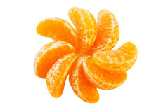 The Juicy segments of the tangerine. Royalty Free Stock Image