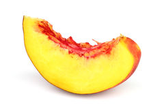 Juicy slice of nectarine Royalty Free Stock Images