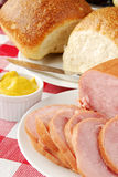 Juicy sliced ham Stock Image