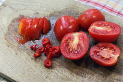 Juicy sliced tomatoes Royalty Free Stock Images