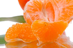 Juicy slices of mandarin Royalty Free Stock Images