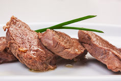 Juicy slices of roast beef Royalty Free Stock Photo