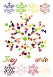 Juicy snowflakes on white background Royalty Free Stock Photos