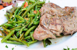 Juicy steak Stock Images