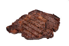 Juicy Steak. A juicy grilled ribeye steak isolated Stock Photo