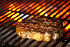 Juicy steak on barbecue Royalty Free Stock Images