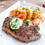 Juicy steak beef meat Stock Photos