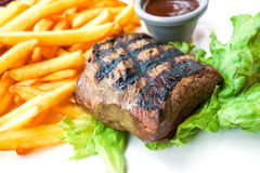 Juicy steak beef meat Stock Images