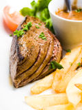 Juicy steak beef meat Stock Photography