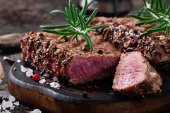 Juicy steak medium rare beef Stock Image