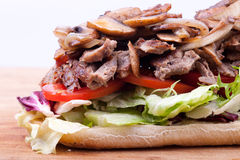 Juicy steak sandwich Stock Photo